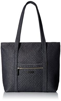 Vera Bradley Iconic Vera Tote, Denim Navy ** Be sure to check out this helpful article.
