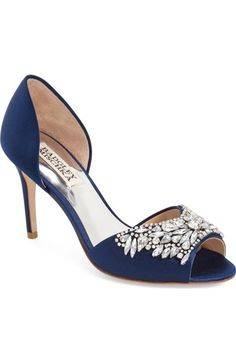 Badgley Mischka 'Candance' Crystal Embellished d'Orsay Pump (Women) available at…