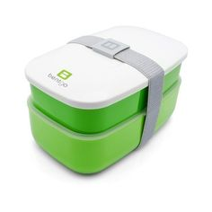 Bentgo All-in-One Stackable Lunch/Bento Box, Green (265 EGP) ❤ liked on Polyvore featuring home, kitchen & dining, food storage containers, green food storage containers, bento box lunch box, bento lunch box, nesting food storage containers and stackable food storage containers