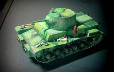 T-111 (T-46-5) Medium Tank Free Paper Model Download