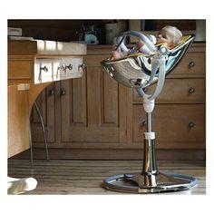 Chaise haute Bloom Fresco-Chrome Mercury - Bloom