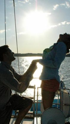Sailboat sunset proposal... How perfect is this?!