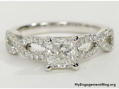 infinity twist engagement ring - My Engagement Ring