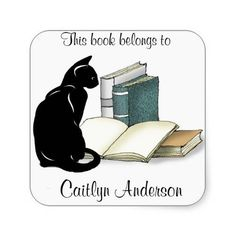 Personalized Cat and Books  Bookplate Sticker http://www.zazzle.com/personalized_cat_and_books_bookplate_sticker-217428315565333145?rf=238756979555966366&tc=PtMPrssKRMbookplateStick       	  	  		  		 		 		  			 			  					   					  			 		   		  		 		  		 			 			  				 Personalized Cat and Books  Bookplate Sticker  			  		 			 $5.25  			 by  SjasisDesignSpace