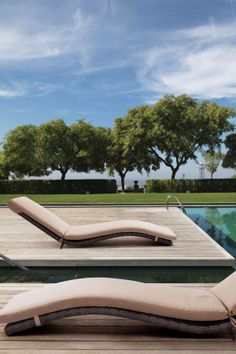 Outdoor Chaise Lounge // Perfect. I'll have the pool, too. #furniture_design