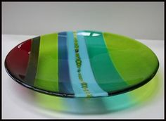 Raku, Earthenware, Stoneware and Pottery Courses, in Welcombe, Devon. Slumped Glass, Fused Glass Plates, Glass Dishes, Mosaic Glass, Stained Glass, Glass Art, Glass Fusion Ideas, Pottery Courses, Plates And Bowls