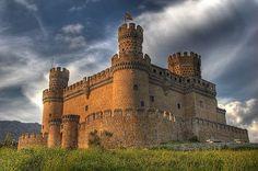 Castillo de Manzanares el Real.   Madrid, Spain.