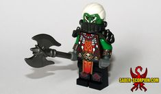 High Overlord Varok Saurfang, most badass orc still standing in the World of Warcraft. Custom #LEGO #minifigure by http://saber-scorpion.com/