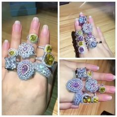 Color stone rings. The trend in 2017. #trend2017 #colorstone #gorgeous #engagementring #video #etsy #fairyparadise #etsyseller #bestpick #beautiful