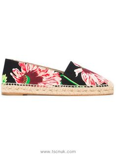 Sports Women Stella Mccartney Floral Print Espadrilles In Black 5979408