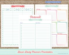 Maxine Renee Designs: Free 2014 Basic Planner Printables -- like the weekly planner layout, need to make it 1/2 size