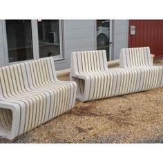 BANC MODULCITE MODULE 2 - 14 éléments Beton Mineral, Module, Banquette, Outdoor Furniture Sets, Outdoor Decor, Home Decor, Street Furniture, Benches, Home Decoration