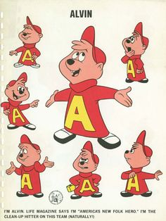Alvin model sheet, designed by Bob Kurtz Best Cartoons Ever, Popular Cartoons, Classic Comics, Classic Cartoons, Manga Anime, Character Model Sheet, Alvin And The Chipmunks, Favorite Cartoon Character, Old Tv Shows