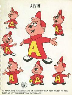 Alvin model sheet, designed by Bob Kurtz Alvin Und Die Chipmunks, Manga Anime, Vintage Cartoons, School Cartoon, Character Model Sheet, Popular Cartoons, Favorite Cartoon Character, Classic Comics, Old Tv Shows