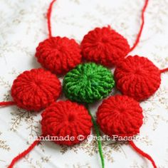 Crochet: Poinsettia Coaster {Pattern & Tutorial} | Free Pattern & Tutorial at CraftPassion.com