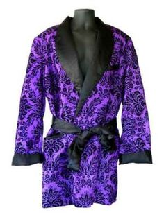 Purple Smoking Jacket Flock Design
