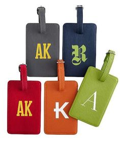 Personalized Luggage Tag - Leather Personalized Leather Luggage ...