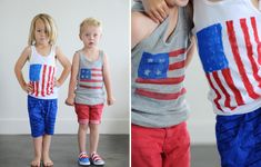 Stars and Stripes T-Shirt and Shoes DIY for the 4th of July