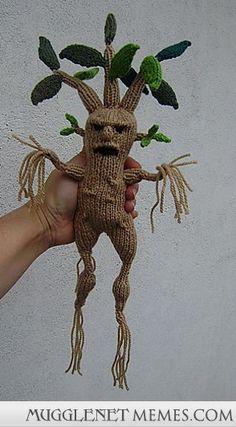 Bwahaha.  A knitted Mandrake.  :D