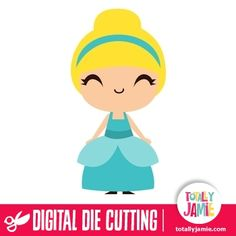 Have fun with this cute cinderella princess SVG cutting file by TotallyJamie.com. Digital die cutting files are designed specifically with c...