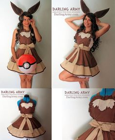 Eevee Pokemon Gijinka Cosplay Pinafore by DarlingArmy on DeviantArt Casual Cosplay, Cosplay Outfits, Eevee Pokemon, Sexy Pokemon, Eevee Evolutions, Japan Tag, Fancy Dress, Dress Up, Kimono Dress