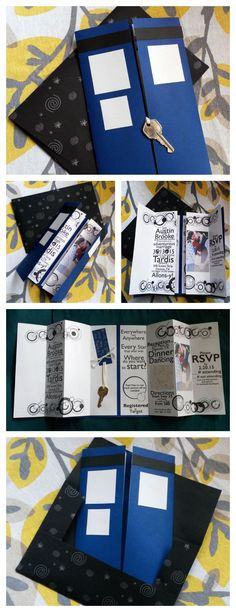 Oh my!! If Only i Could Get away with a Fandom wedding! Bigger on the Inside Doctor Who Tardis Invitation #wedding #paper_craft