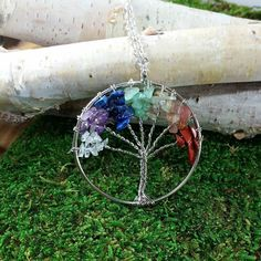 "☁♒""AUCTION"" Chakra Tree Of Life Necklace. ▶Bidding starts at $19 + $6 US shipping ($15+ #international shipping) 🌎Comment at least $1 more then previous offer. Please TAG the person you outbid! Winner promptly pays bid + ship via PayPal /credit/debit..."