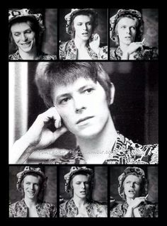 David Bowie being interviewed at Haddon Hall, London on April 24, 1972. Photo by Michael Putland.