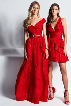 Zuhair Murad Resort 2020 - Ready-to-Wear Zuhair Murad Bridal, Zuhair Murad Dresses, Red Fashion, Fashion 2020, Couture Fashion, Elie Saab, Selena Gomez Red Dress, Red Dress Accessories, Little Red Dress
