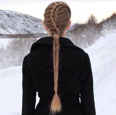 Long fishtail braid