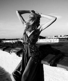 Fashion Images, Fashion Pictures, Fashion Models, Fashion Beauty, All Black Fashion, Martha Hunt, Embellished Gown, Img Models, International Fashion