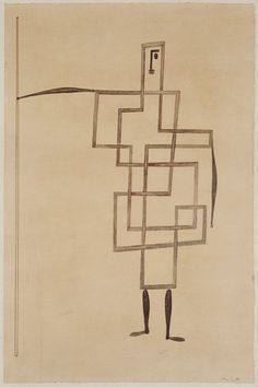 +++++ PRINCE, 1930 (PEN & INK AND W/C ON PINK PAPER) - PAUL KLEE