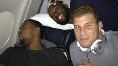 Blake Griffin and Reggie Evans catch DeAndre Jordan napping (via NBA)