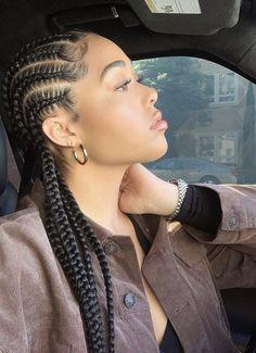 braided hairstyles for black women jordyn woods style hair fashion outfits kardashians tristan drama khloe kim kylie kourtney kendall Box Braids Hairstyles, Twist Hairstyles, African Hairstyles, Black Women Hairstyles, Hairstyles 2018, Hair Updo, Ladies Hairstyles, Evening Hairstyles, Protective Styles