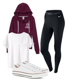"""Casual"" by oliviagillis130 on Polyvore featuring AR SRPLS, NIKE and Converse"