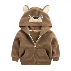 Cartoon animal shaped fleece hoodie owl sweatshirt for kids
