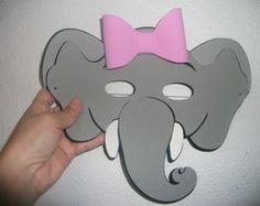 Máscara de Elefantinha com laço