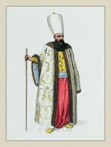 Capidji Bachi. Private officers of the Sultan. Ottoman empire military costume. Traditional Turkey national clothing.