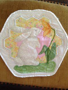 Wall hanging bunny rabbit child motif spring by SuzanneInOhio