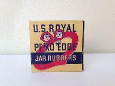 Vintage U.S.Royal PE-KO Edge Jar Rubbers by NVMercantile on Etsy