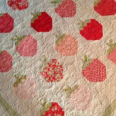 My Strawberry Social quilt is back from the quilter! | Use Instagram online! Websta is the Best Instagram Web Viewer!