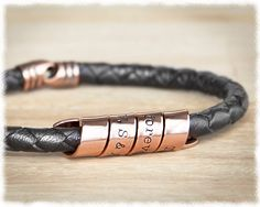 Mens Jewelry • Anniversary Gift Men • Mens Personalized Jewelry • Copper…