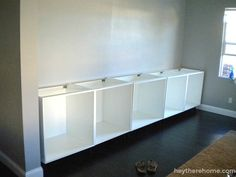 IKEA hack- how to create a built in out of IKEA cabinets and shelves