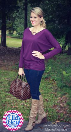 Love tunics for the fall! Found at Ella Bleu Boutique on Facebook! www.Facebook.com/EllaBleuBoutique