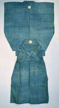 Samurai Kamishimo dating from the Edo Period adorned with the 4-snake-eye crest of used by the Takeda clan