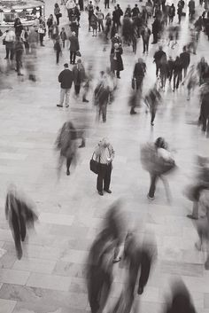 lost in a blur of everyday life