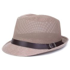 88fee1093ad2a New Mens Summer Styles Breathable Travel and Casual Jazz Hat Hollow Grid  Formal Fashion Trendy Linen Hat Fedora Cap