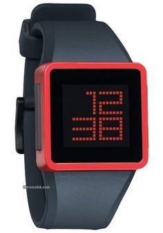 Nixon The Newton digital Gunship men´s watch $169 #watch #watches blue silicon bracelet