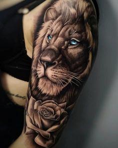 lion tattoo Ttowierungsmodelle und Entwrfe Knstler IG: edipo_tattooist von the_art_of_tattooing Hand Tattoos, Lion Forearm Tattoos, Lion Head Tattoos, Leo Tattoos, Best Sleeve Tattoos, Tattoo Sleeve Designs, Animal Tattoos, Body Art Tattoos, Tattoos For Guys