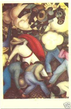 Fischgrund Vintage Postcard Diego Rivera Quema Judas Mexican Folk Art Unused